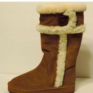 Michael Kors Shearling cold weather fur camel